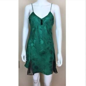 Victoria's Secret Green Floral Slip Nightgown SM